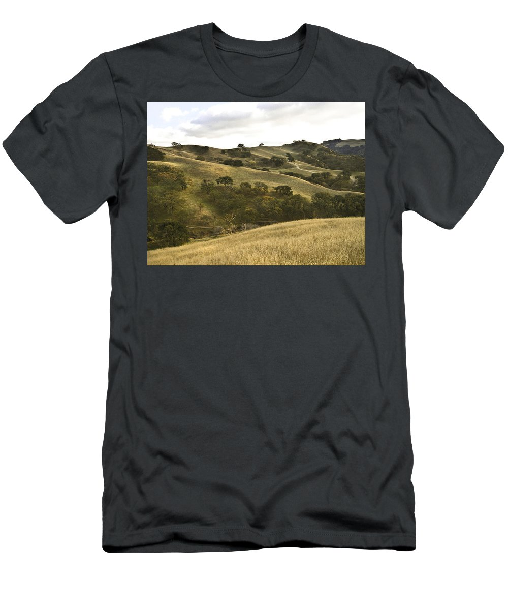 Landscape Men's T-Shirt (Athletic Fit) featuring the photograph First Hill In Fall by Karen W Meyer