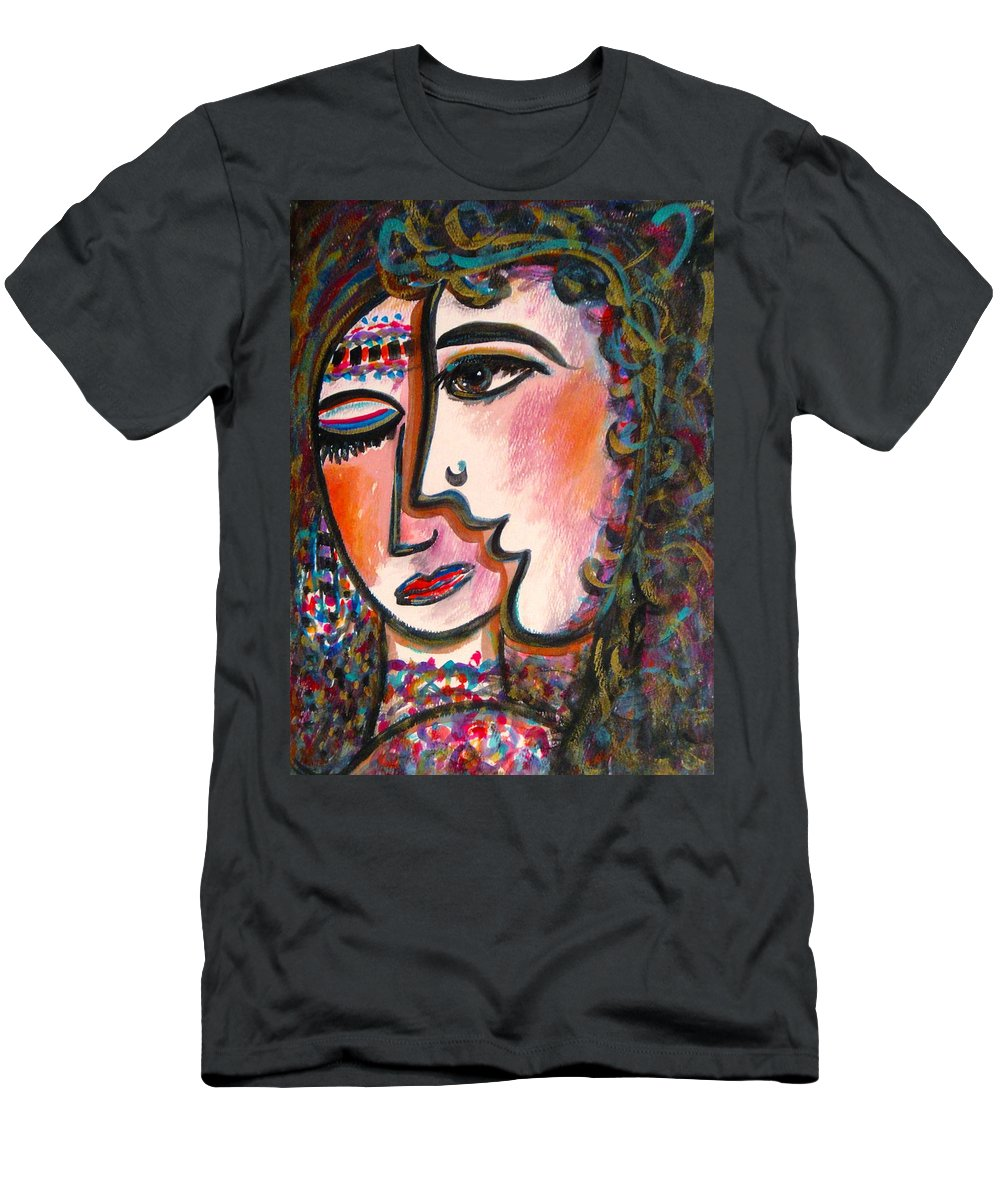 Lovers Men's T-Shirt (Athletic Fit) featuring the painting Lovers by Natalie Holland