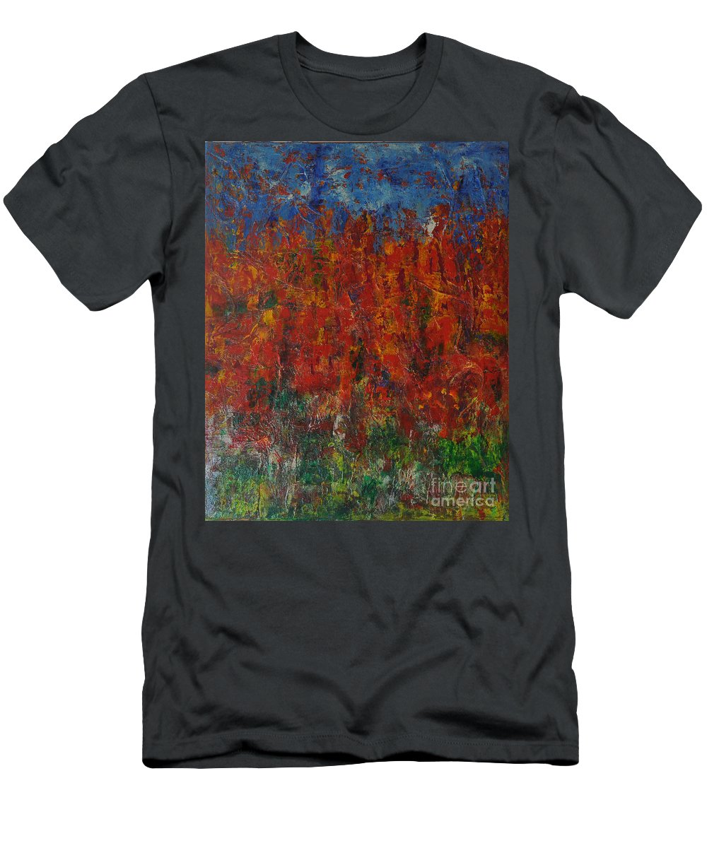Abstract Men's T-Shirt (Athletic Fit) featuring the painting 073 Abstract Thought by Chowdary V Arikatla
