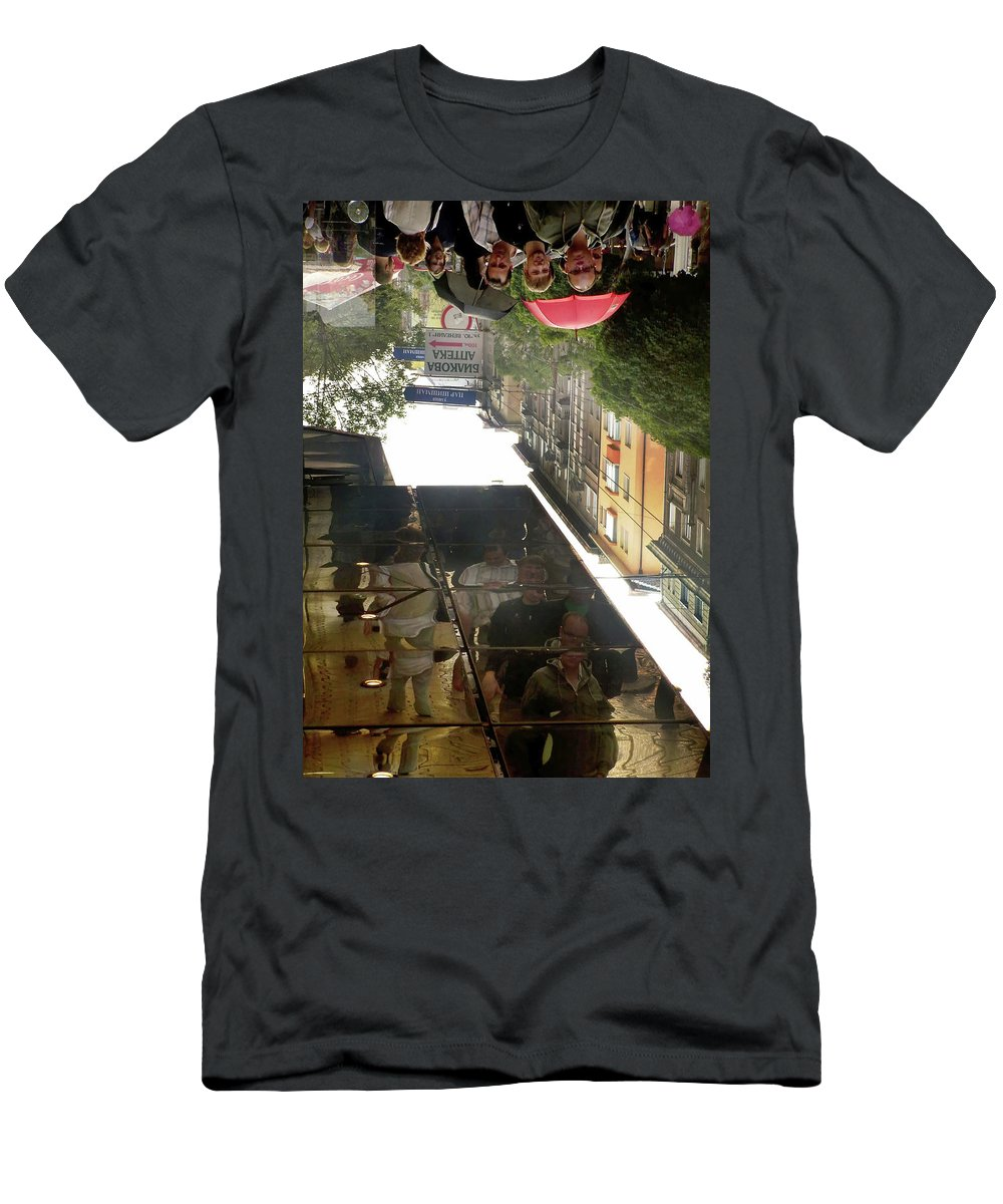 Men's T-Shirt (Athletic Fit) featuring the photograph 08-3 Square Inside Us - By Vl.dobrev by Vladimir Dobrev