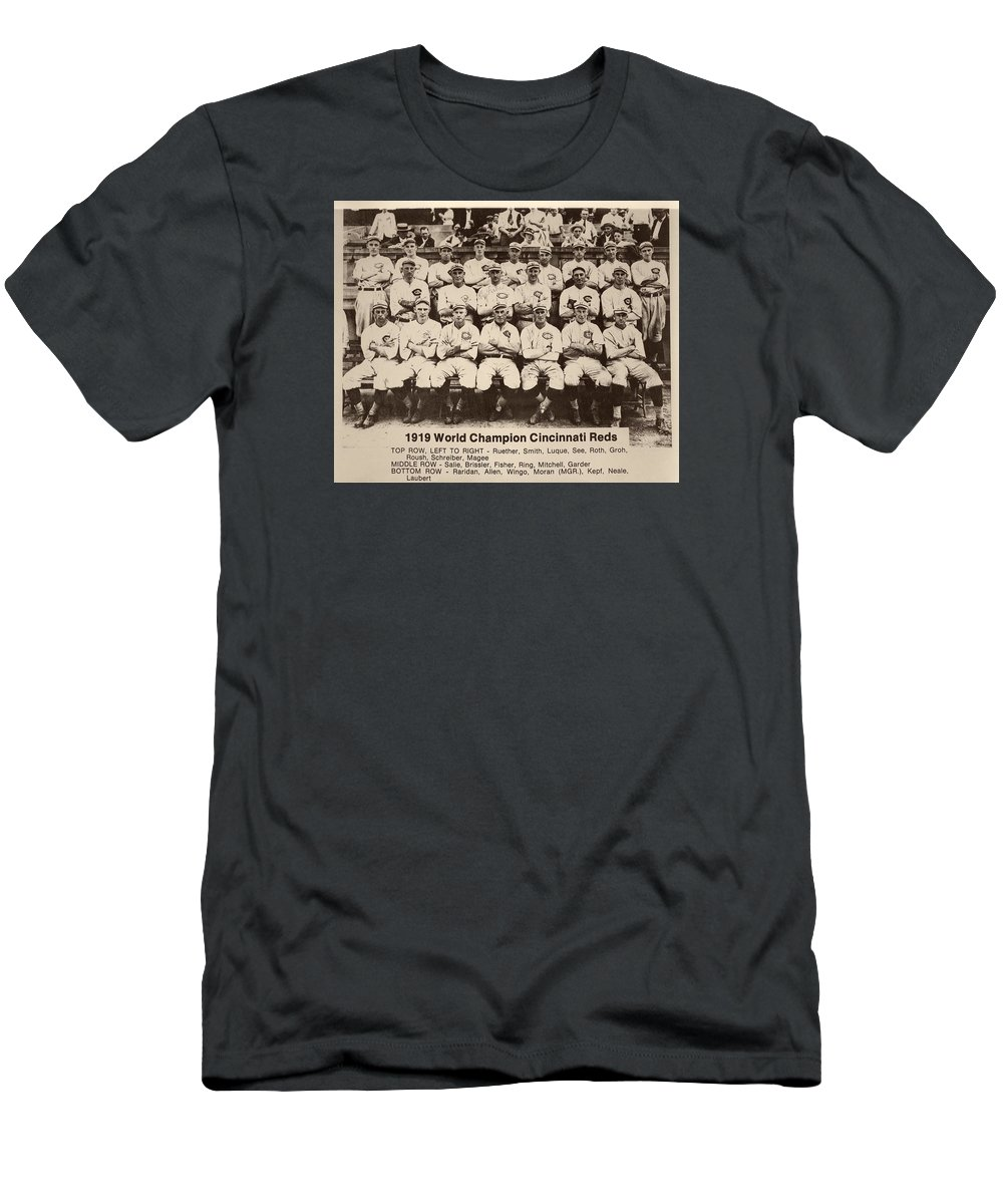 755fe3af502a 1919 Men's T-Shirt (Athletic Fit) featuring the photograph 1919 World  Champion Cincinnati