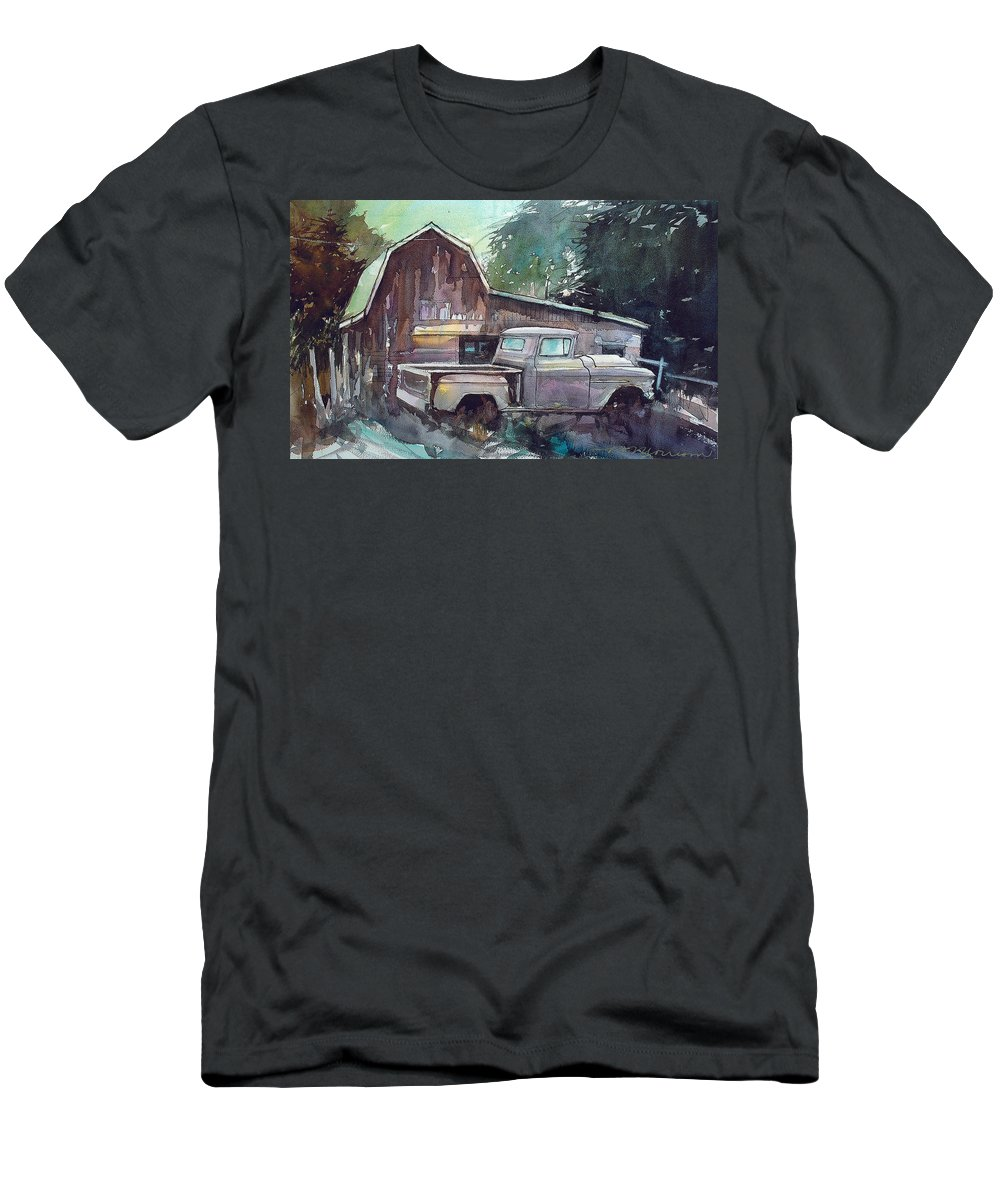 56 Chev Truck T-Shirt featuring the painting 56 Chevy Truck by Ron Morrison