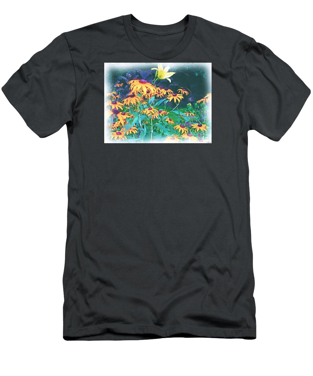 Mixed Media Men's T-Shirt (Athletic Fit) featuring the painting A Lily In The Field by Patricia Griffin Brett