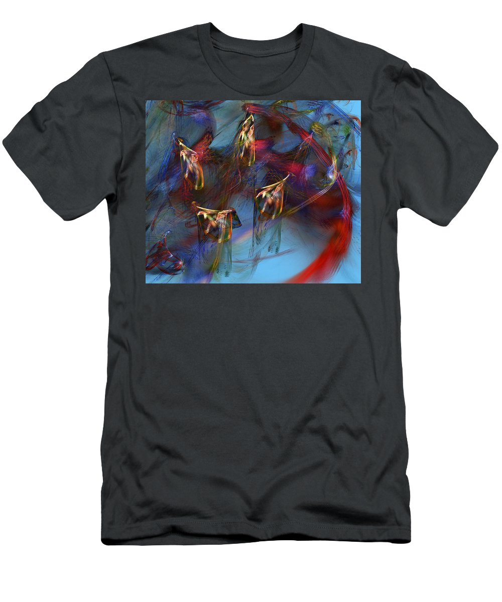 Fine Art Digital Art Men's T-Shirt (Athletic Fit) featuring the digital art Abstract 102910 by David Lane