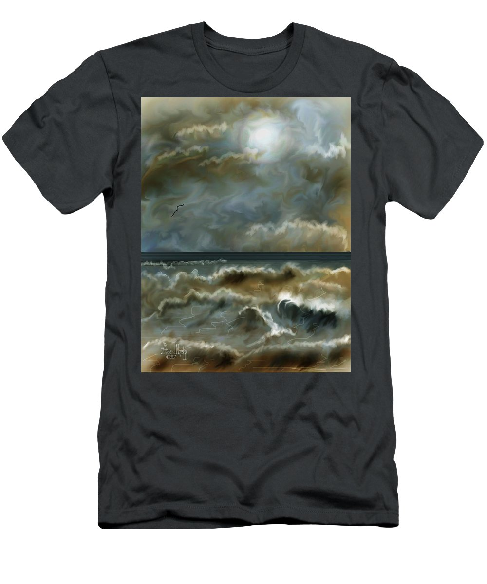 Seascape Men's T-Shirt (Athletic Fit) featuring the painting After The Squall by Anne Norskog