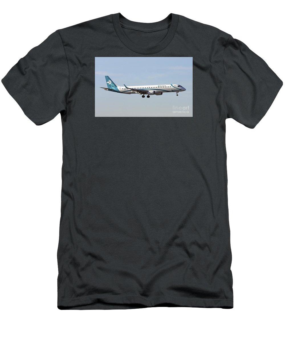 Air Dolomiti Men's T-Shirt (Athletic Fit) featuring the photograph Air Dolomiti, Embraer Erj-195 by Amos Dor