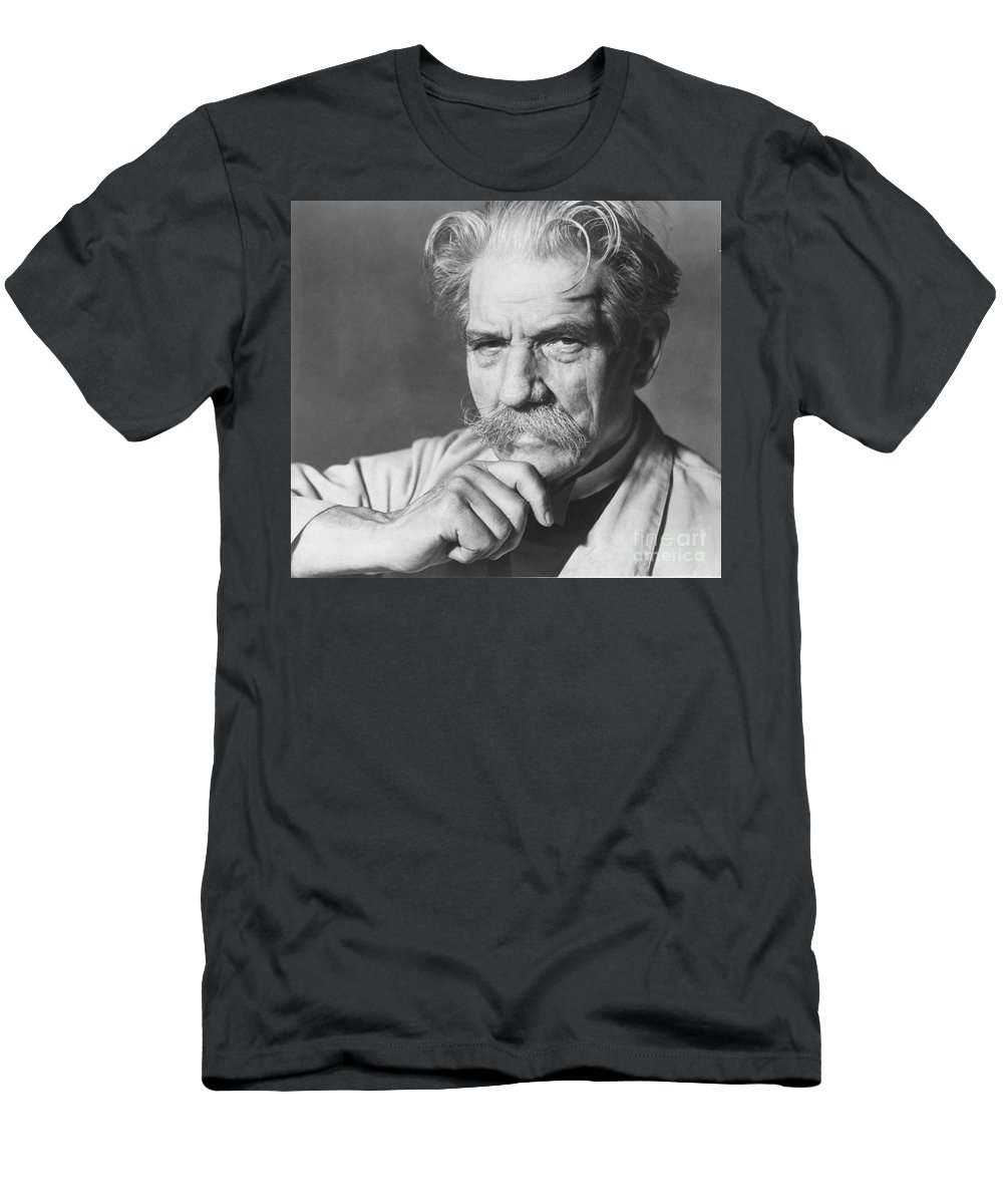 20th Century Men's T-Shirt (Athletic Fit) featuring the photograph Albert Schweitzer by Granger