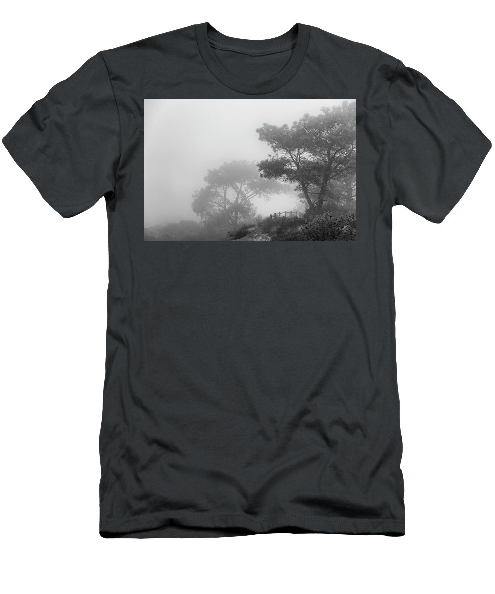 Torrey Pines Men's T-Shirt (Athletic Fit) featuring the photograph Around The Bend by Guy Shultz