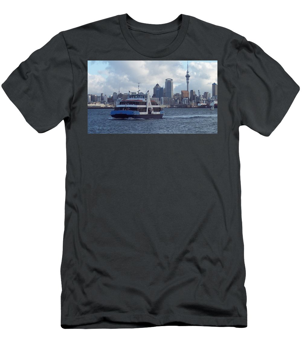 New Zealand Men's T-Shirt (Athletic Fit) featuring the photograph New Zealand - Devonport Ferry by Jeffrey Shaw