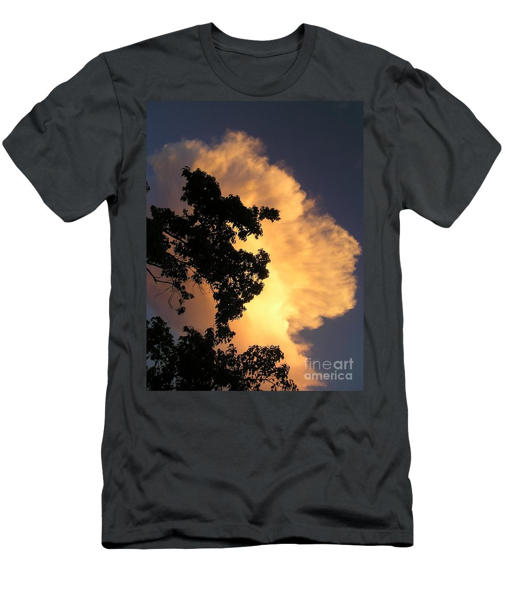 Clouds Men's T-Shirt (Athletic Fit) featuring the photograph August Thunder by Maria Bonnier-Perez