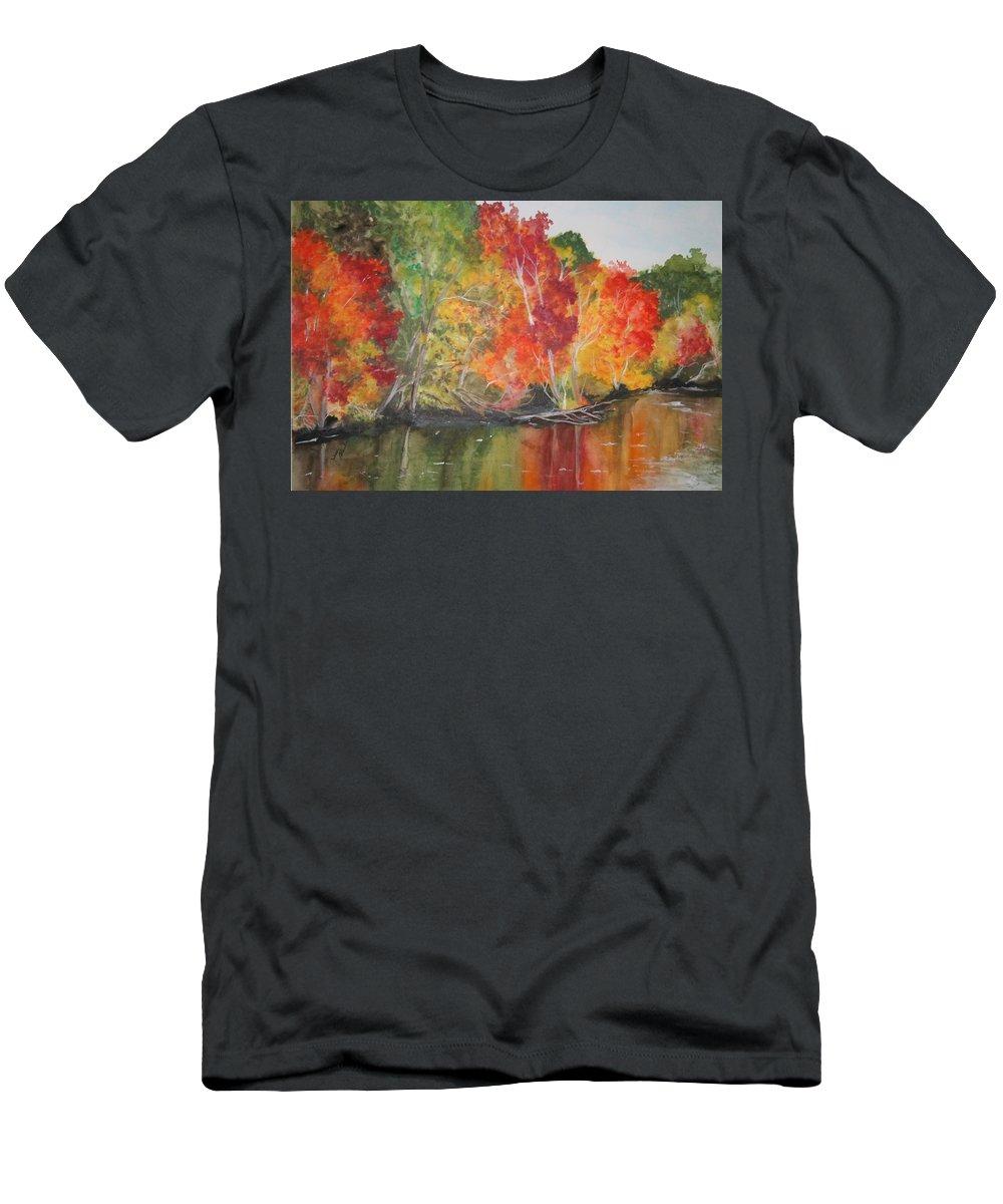 Autumn Men's T-Shirt (Athletic Fit) featuring the painting Autumn Splendor by Jean Blackmer