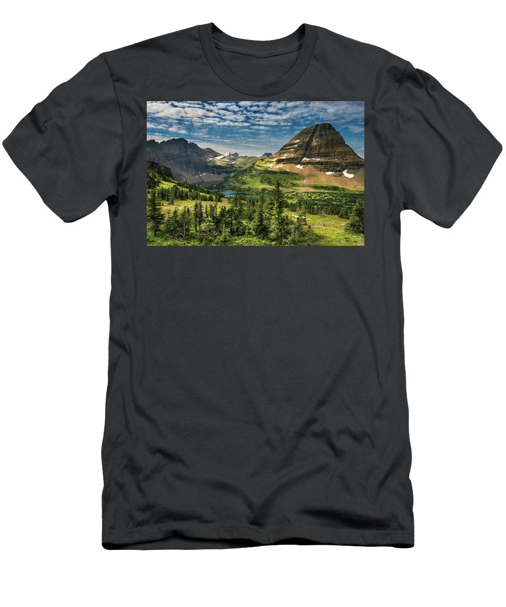 Glacier National Park Men's T-Shirt (Athletic Fit) featuring the photograph Big Sky Country by Nps