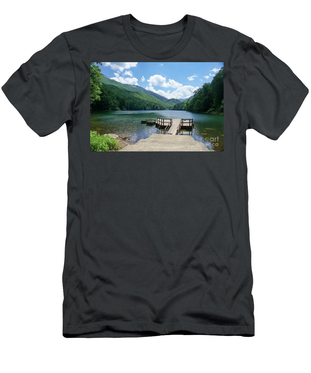 Montenegro Men's T-Shirt (Athletic Fit) featuring the photograph Biogradska Gora Forest by Ruth Hofshi