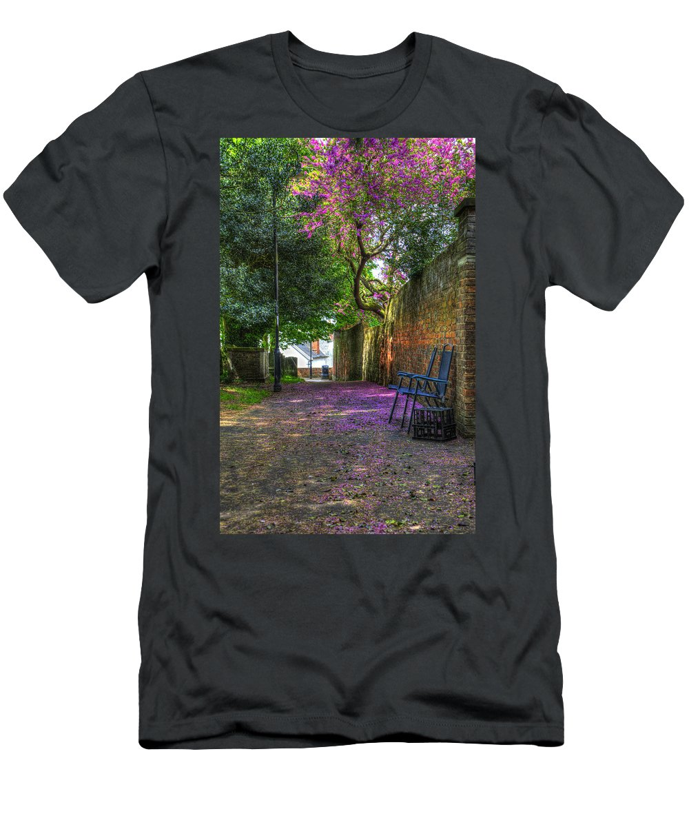 Blossom Men's T-Shirt (Athletic Fit) featuring the digital art Blossom Path by Nigel Bangert