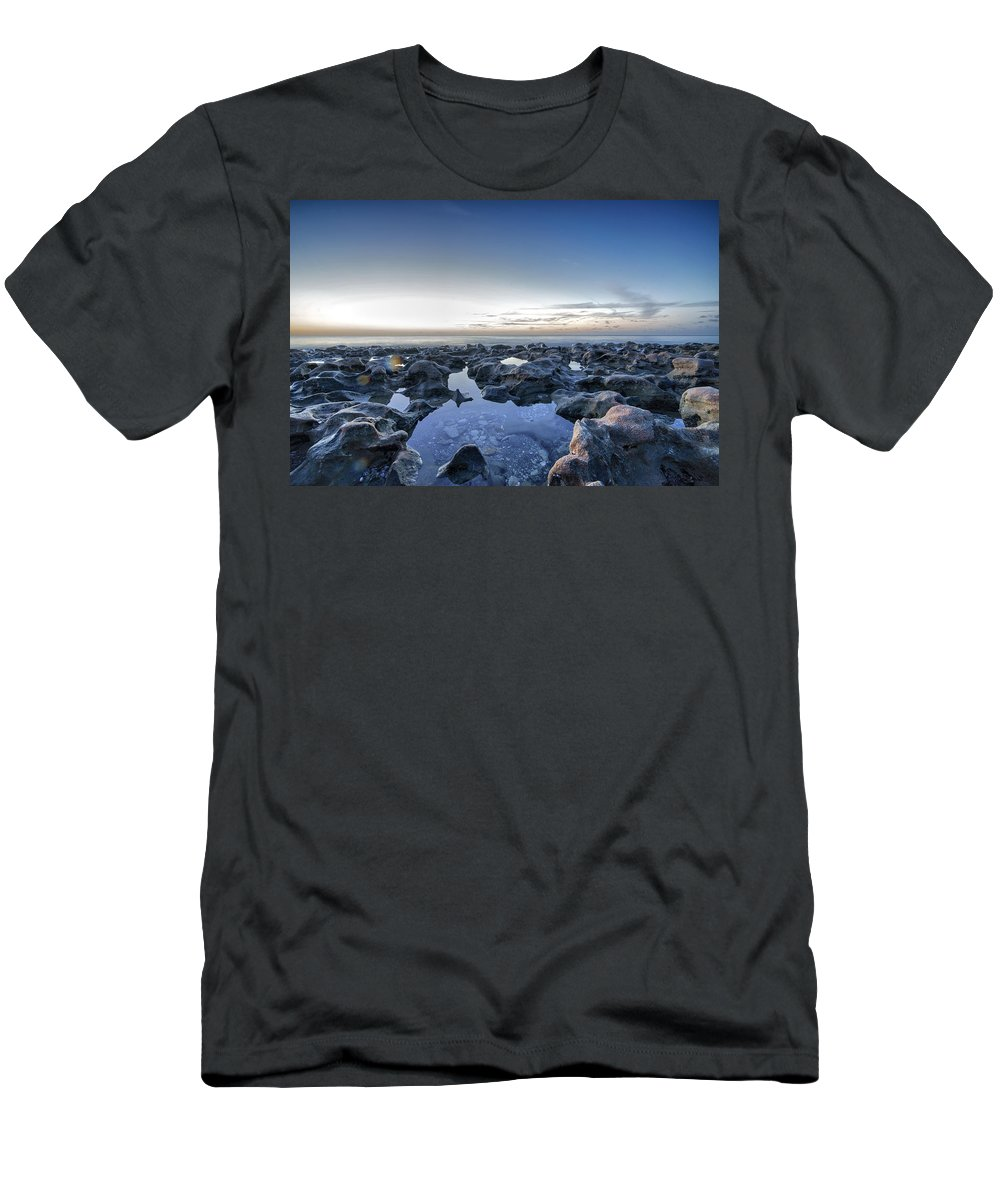 Blowing Rocks Preserve Men's T-Shirt (Athletic Fit) featuring the photograph Blowing Rocks Preserve by Mike Sperduto