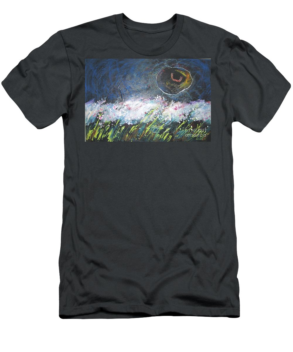 Aabstract Paintings Men's T-Shirt (Athletic Fit) featuring the painting Buckwheat Field by Seon-Jeong Kim