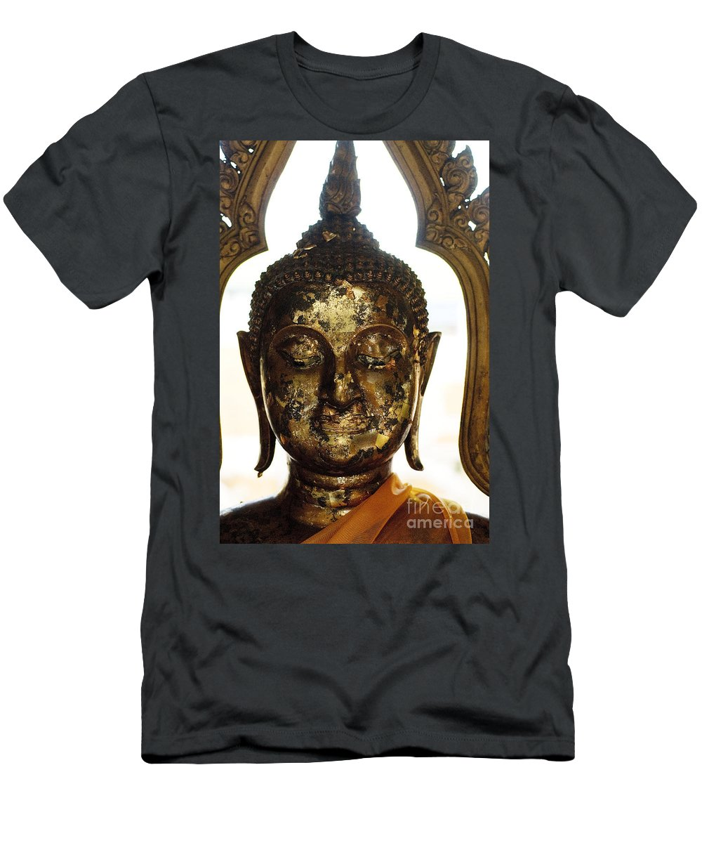 Art Men's T-Shirt (Athletic Fit) featuring the photograph Buddha Sculpture by Ray Laskowitz - Printscapes