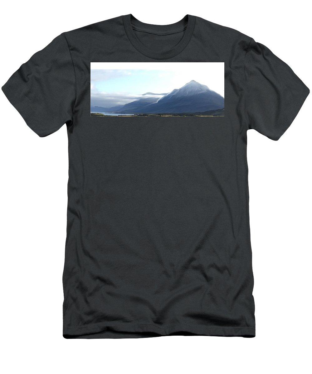 A Djupavogi Men's T-Shirt (Athletic Fit) featuring the digital art Bulandstindur by Eva Ingolf