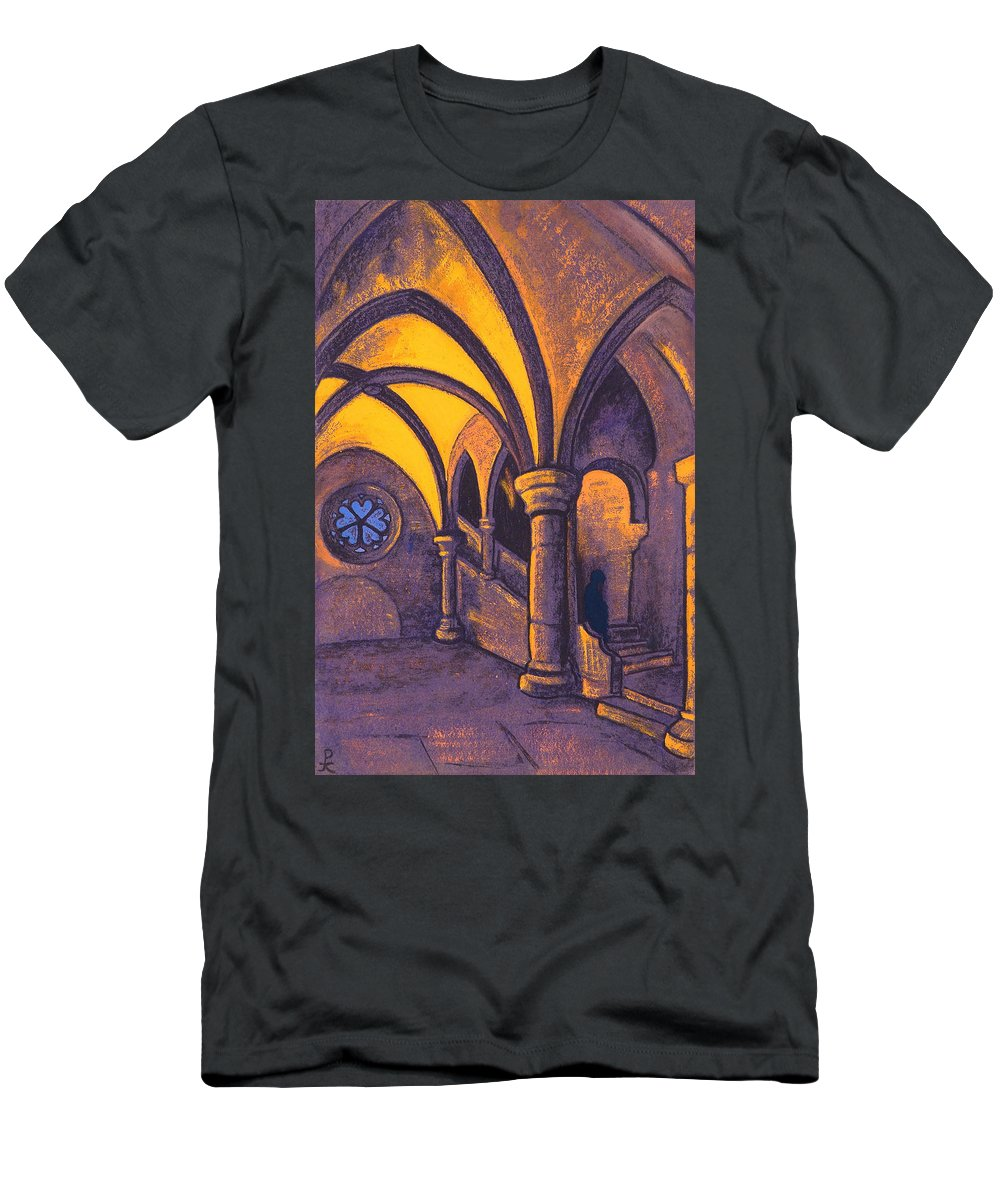 Architectural Men's T-Shirt (Athletic Fit) featuring the painting Castle by Nicholas Roerich