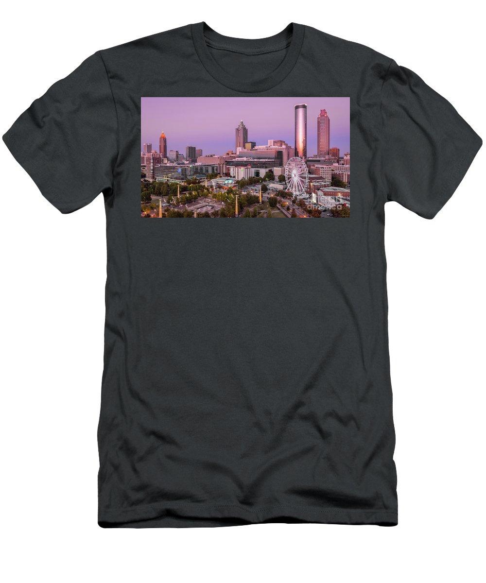 Atlanta Men's T-Shirt (Athletic Fit) featuring the photograph Centennial Olympic Park by Doug Sturgess