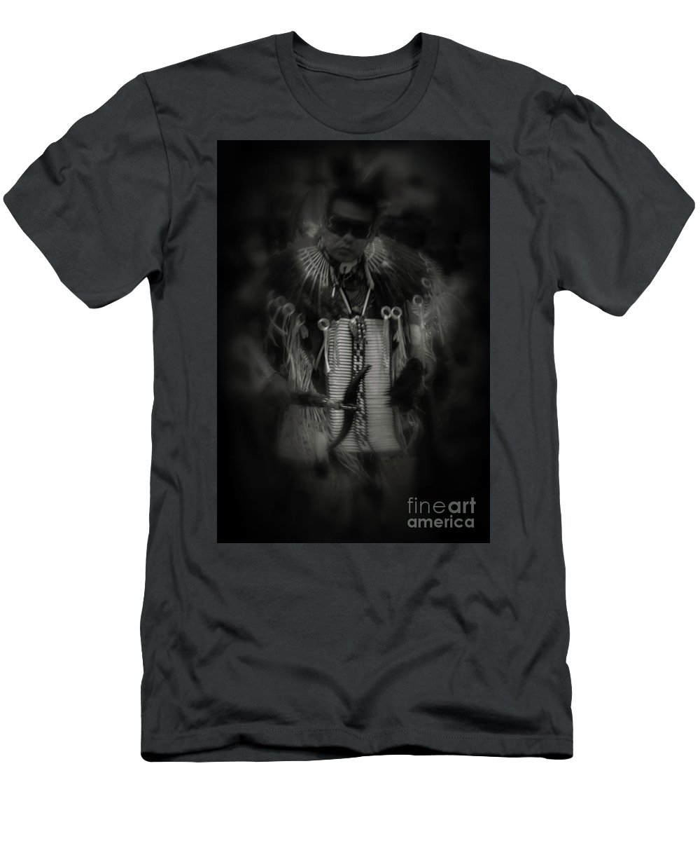 Dancer Men's T-Shirt (Athletic Fit) featuring the photograph Dancing To The Drum by Steven Parker