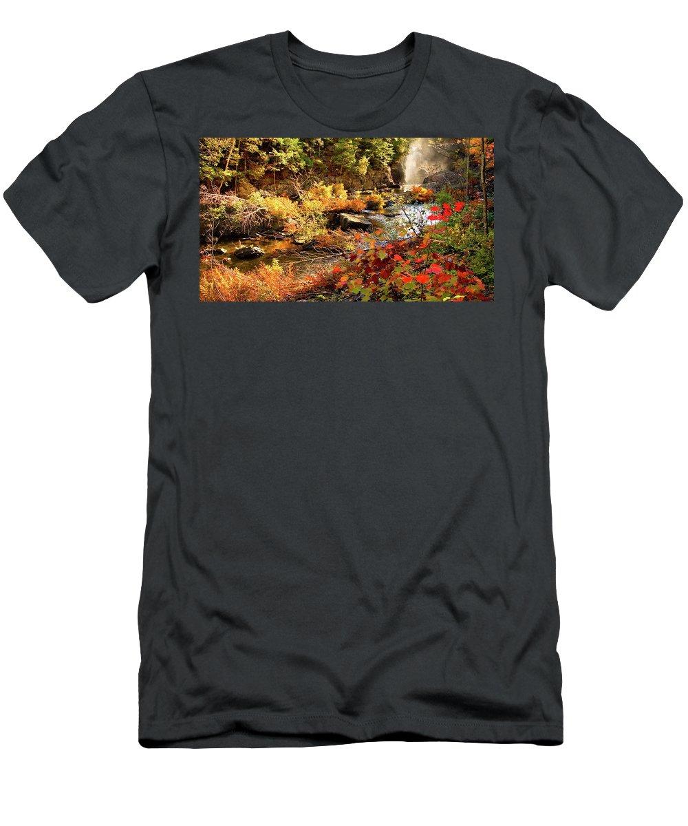 Dead River Falls T-Shirt featuring the photograph Dead River Falls Marquette Michigan by Michael Bessler