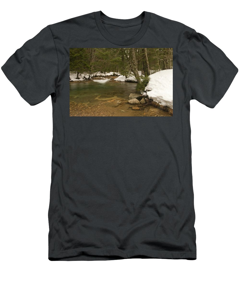 white Mountains Men's T-Shirt (Athletic Fit) featuring the photograph Deep Banks by Paul Mangold