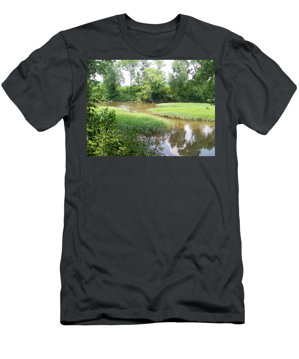 Creek Men's T-Shirt (Athletic Fit) featuring the photograph Down By The Creek by R Chambers