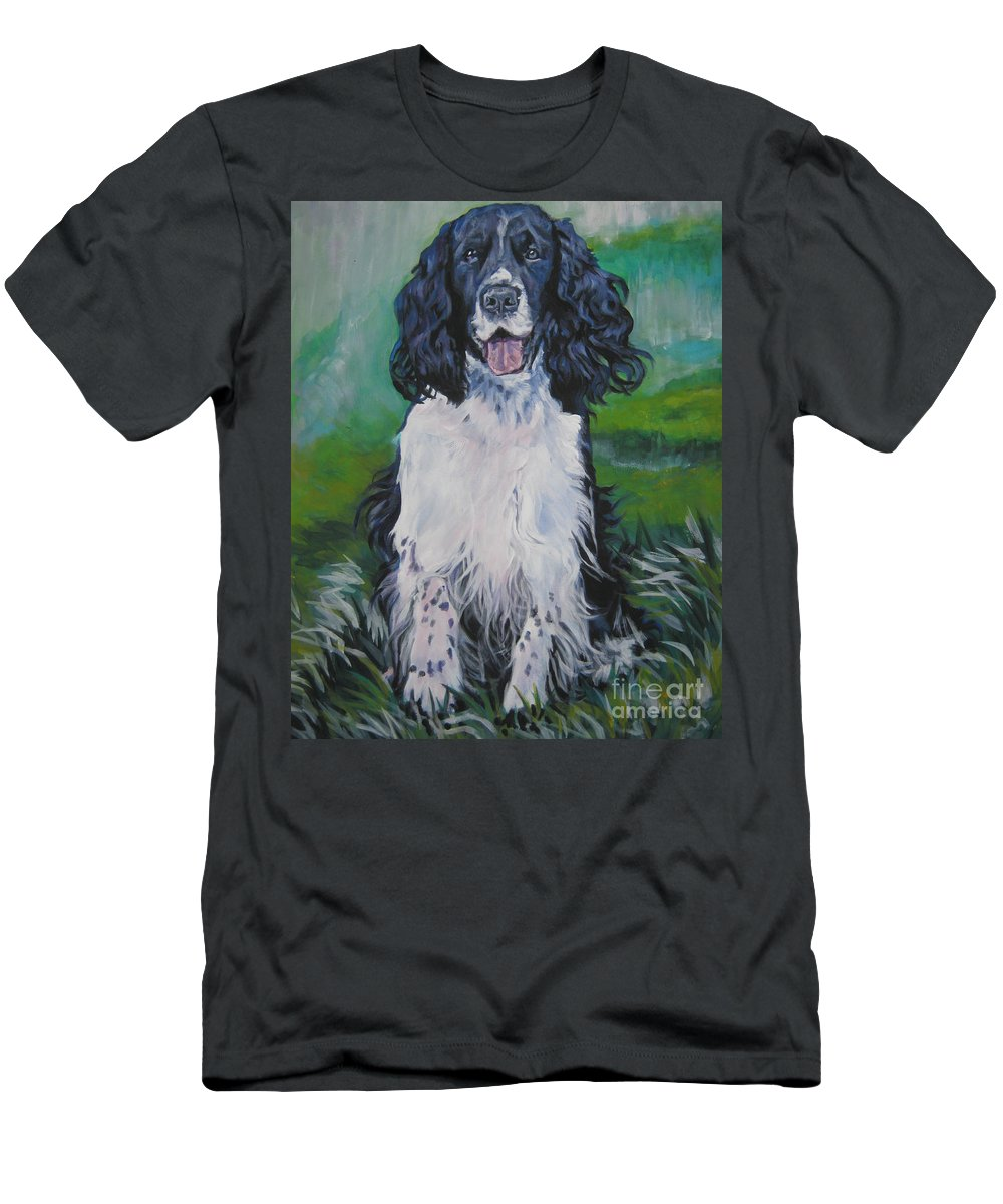 English Springer Spaniel Men's T-Shirt (Athletic Fit) featuring the painting english Springer spaniel by Lee Ann Shepard