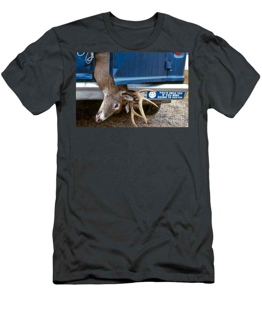 Deer Men's T-Shirt (Athletic Fit) featuring the photograph Eternal Reward by Thomas Marchessault