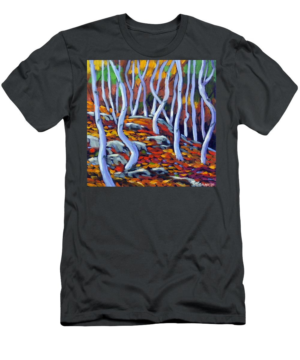 Art Men's T-Shirt (Athletic Fit) featuring the painting Fantaisie No 6 1 by Richard T Pranke