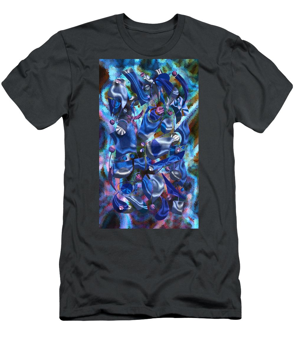Abstract Men's T-Shirt (Athletic Fit) featuring the digital art Festive Joy by Mark Sellers