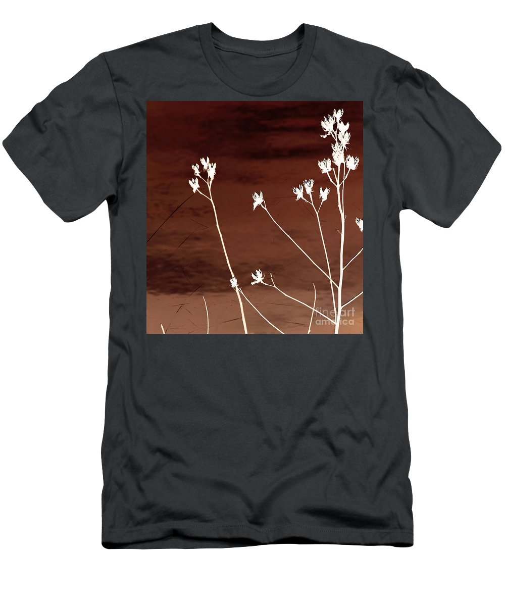 Flowers Men's T-Shirt (Athletic Fit) featuring the photograph Floral by Amanda Barcon
