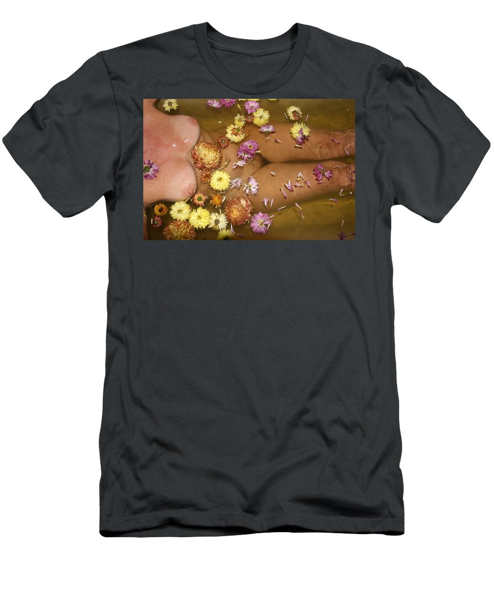 Lucky Cole Everglades Photographer Female Nude Everglades Men's T-Shirt (Athletic Fit) featuring the photograph Flowers by Lucky Cole