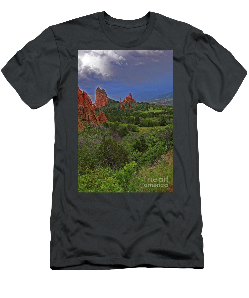 Colorado T-Shirt featuring the photograph Garden Of The Gods by Rich Walter