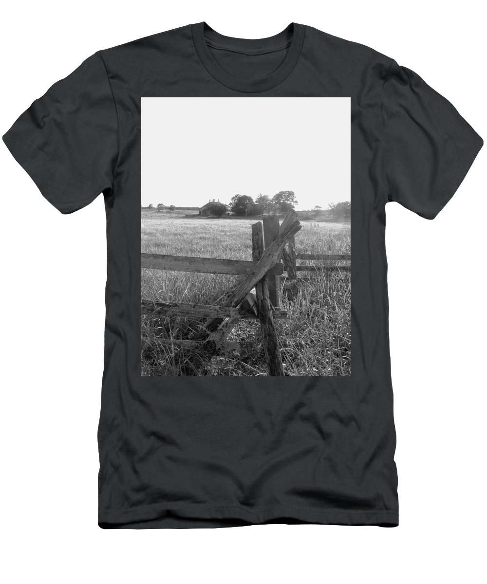Gettysburg Men's T-Shirt (Athletic Fit) featuring the painting Gettysburg Landscape by Eric Schiabor