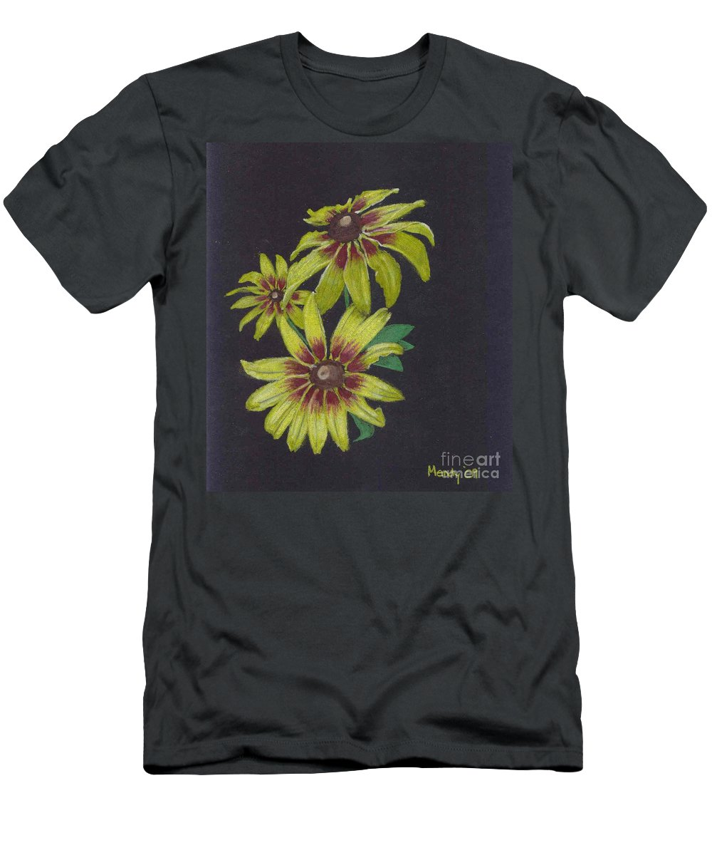 Daisy Men's T-Shirt (Athletic Fit) featuring the pastel Gloriosa Daisy by Mendy Pedersen