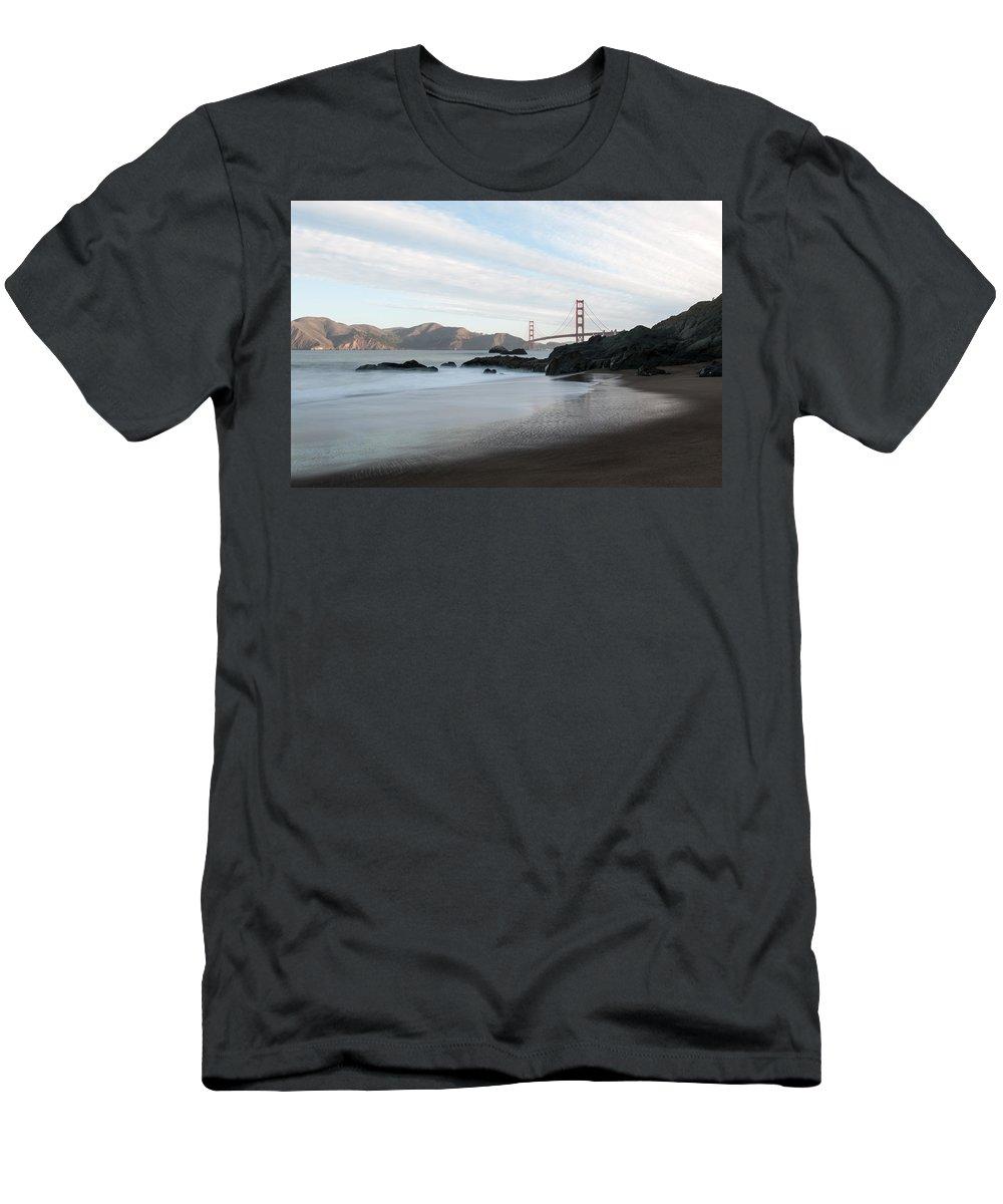 Golden Men's T-Shirt (Athletic Fit) featuring the photograph Golden Gate Bridge by Wim Slootweg