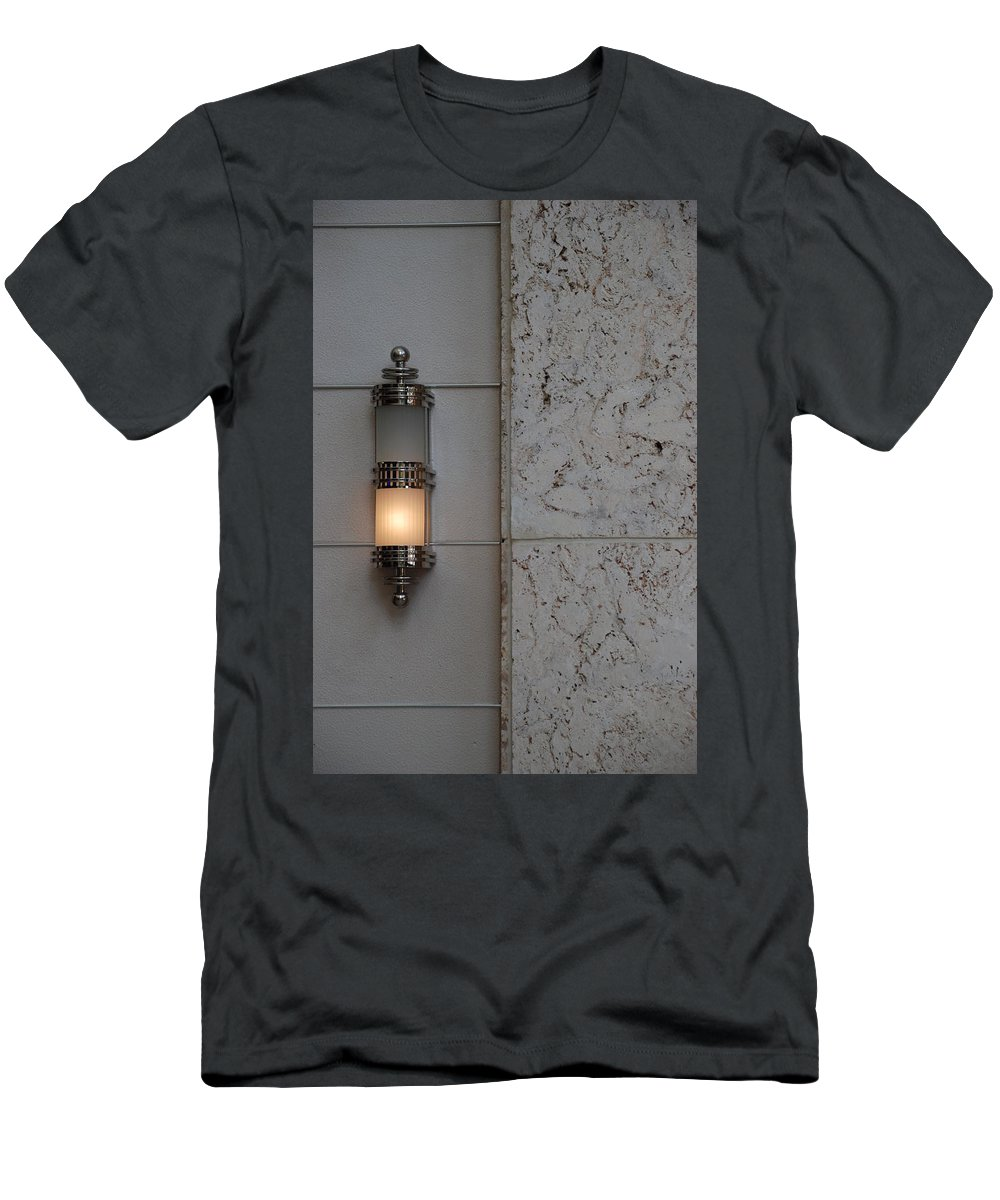 Sconce Men's T-Shirt (Athletic Fit) featuring the photograph Half Lit Wall Sconce by Rob Hans