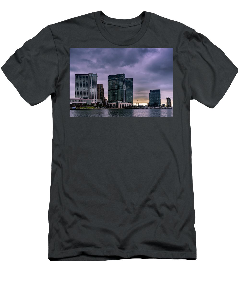 2017 Men's T-Shirt (Athletic Fit) featuring the photograph Harbor Sunrise by Jim Archer