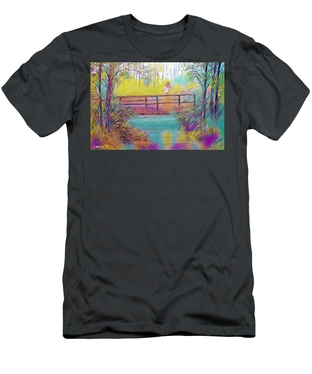 Violin Men's T-Shirt (Athletic Fit) featuring the painting Harmany by Michael Mrozik