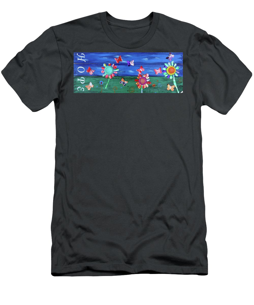 Hope Men's T-Shirt (Athletic Fit) featuring the painting Hope by Eric Barnes