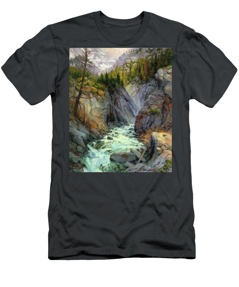 River T-Shirt featuring the painting Hurricane River by Steve Henderson