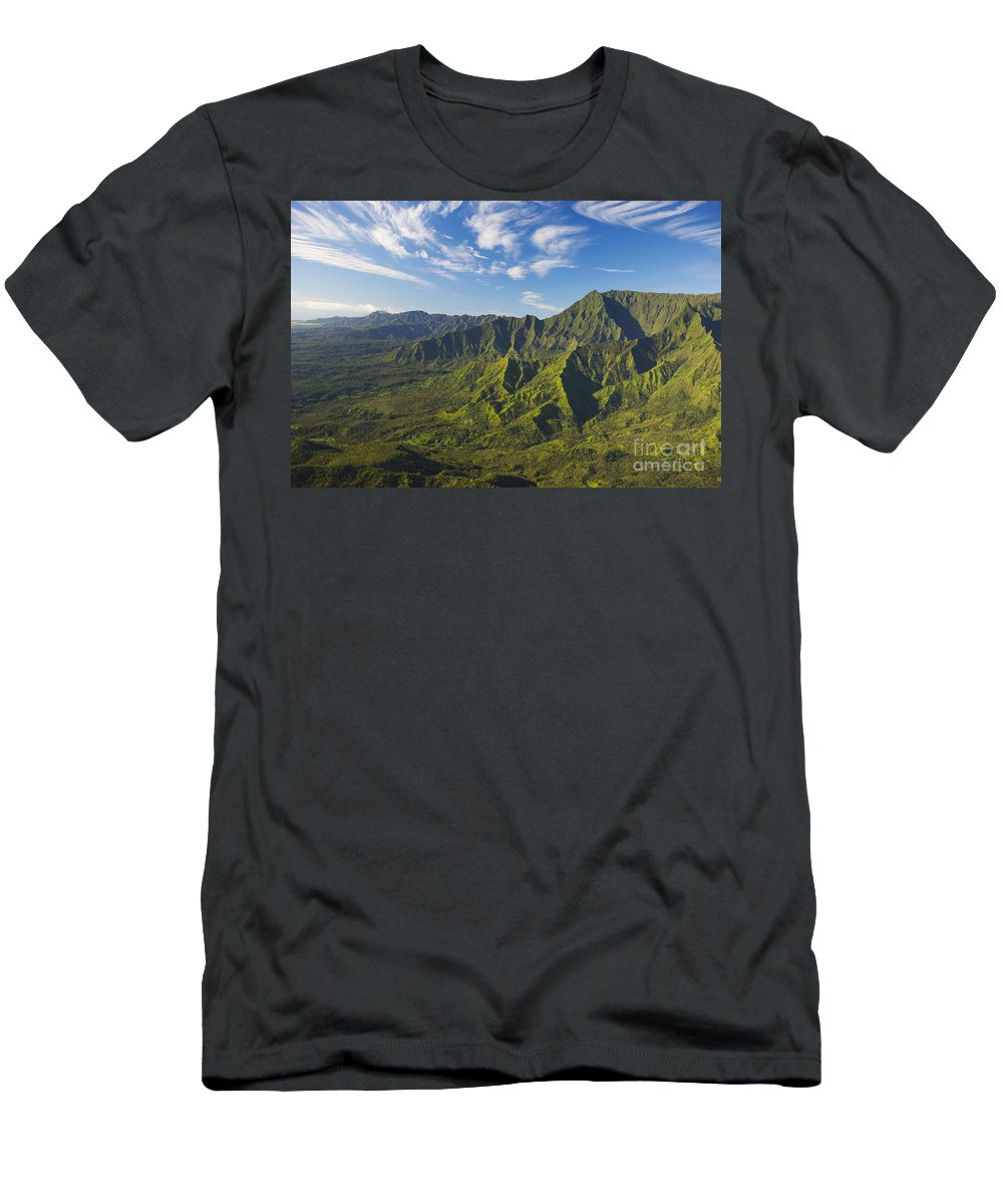 Above Men's T-Shirt (Athletic Fit) featuring the photograph Kauai Aerial by Dana Edmunds - Printscapes