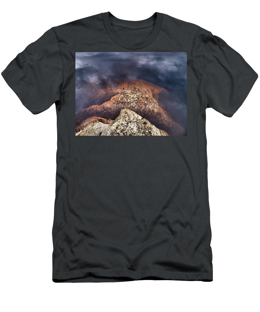 Lehtokukka Men's T-Shirt (Athletic Fit) featuring the photograph Lakescapes 5 by Jouko Lehto