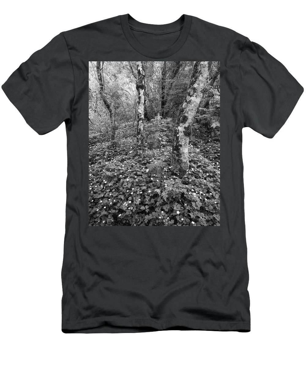 Leaves Men's T-Shirt (Athletic Fit) featuring the photograph Lone Ranch Wood 4937 by Bob Neiman