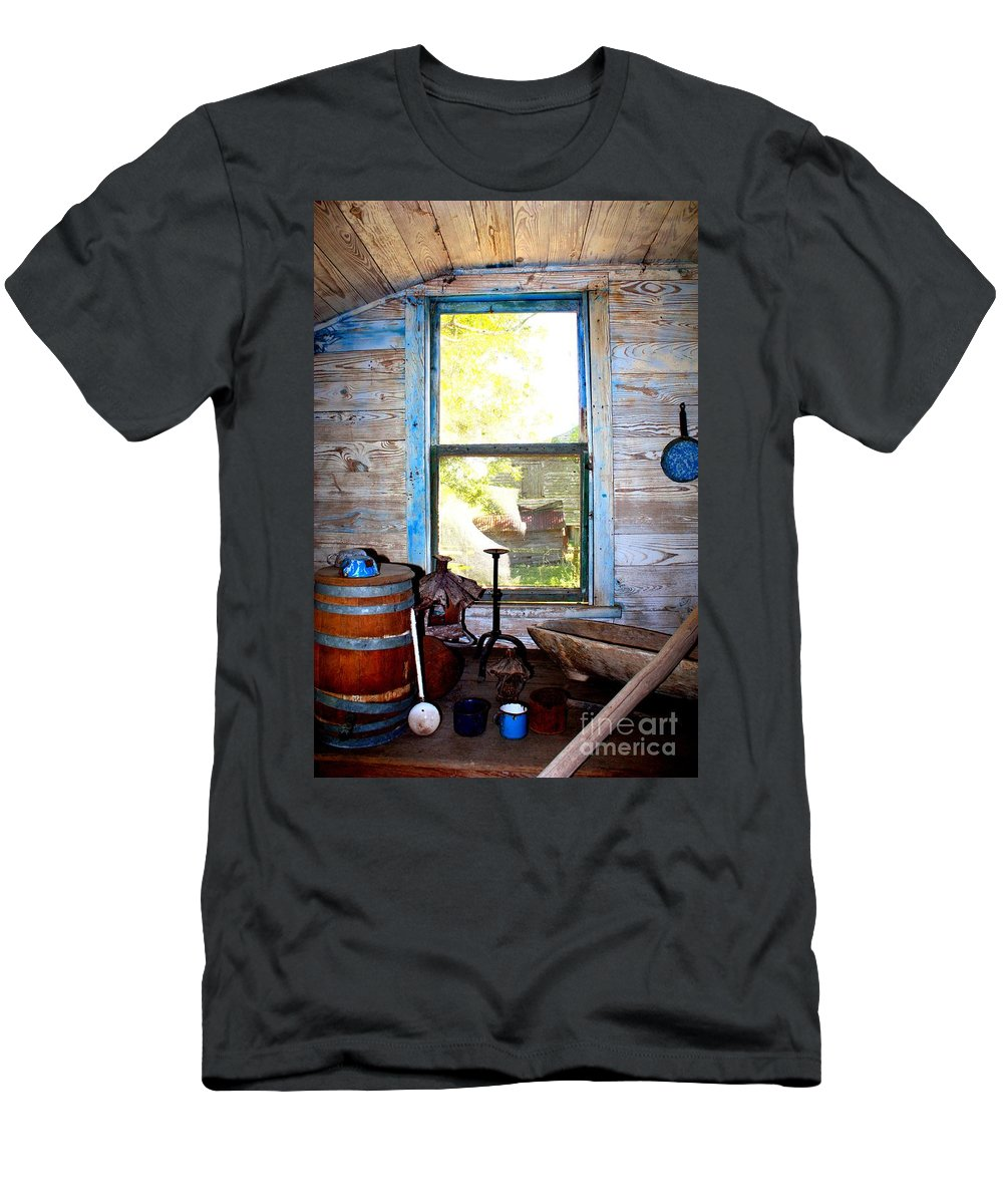 Window Men's T-Shirt (Athletic Fit) featuring the photograph Looking Out by Carol Groenen