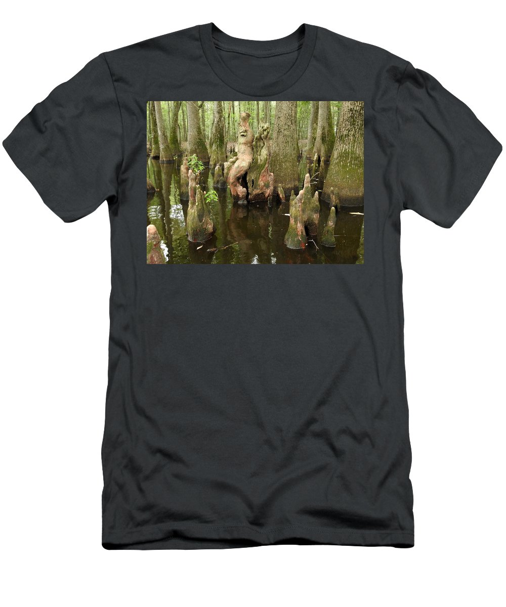 Cypress Men's T-Shirt (Athletic Fit) featuring the photograph Lost Souls by Delana Epperson