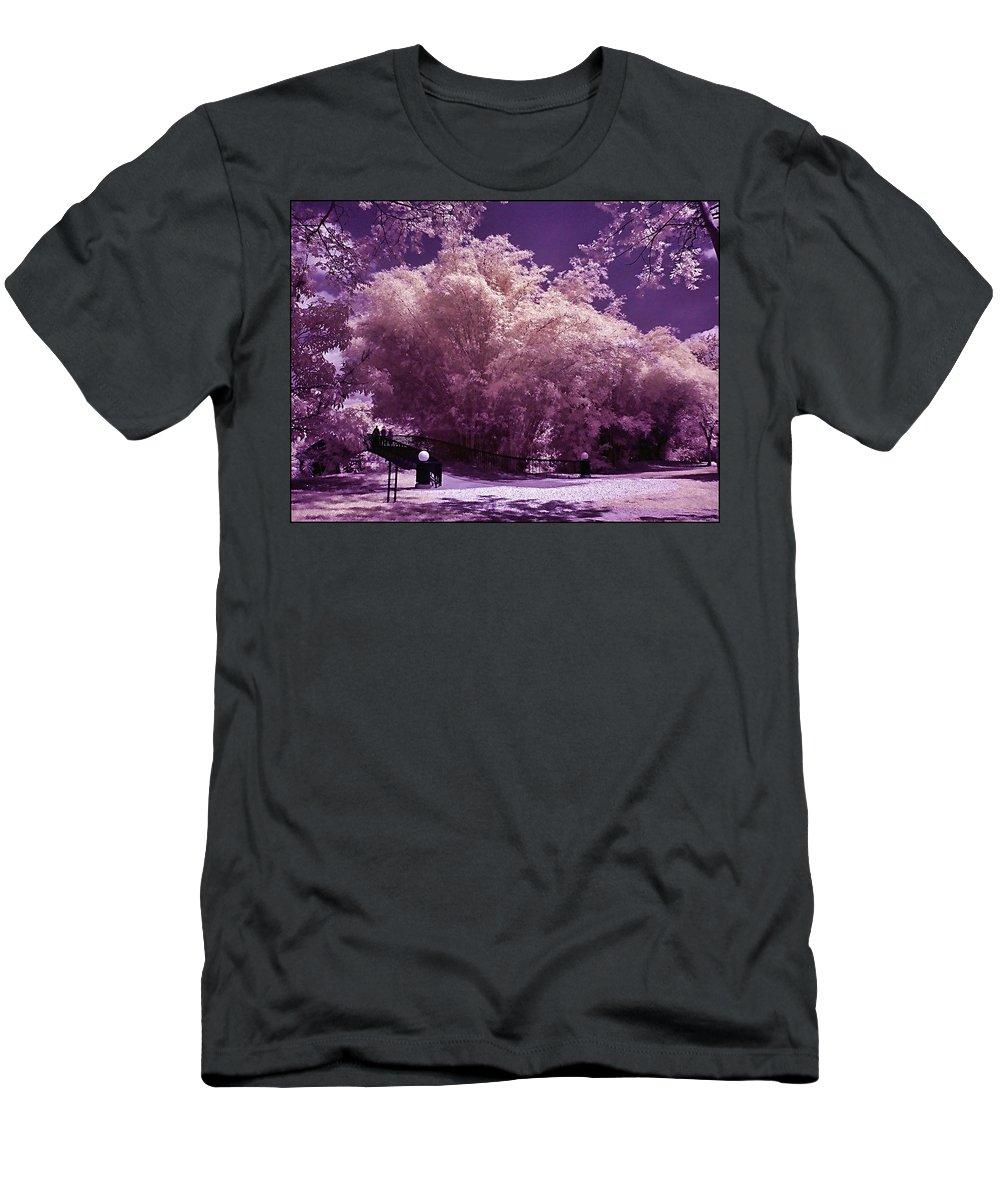 Landscape Men's T-Shirt (Athletic Fit) featuring the photograph Magic Garden by Galeria Trompiz