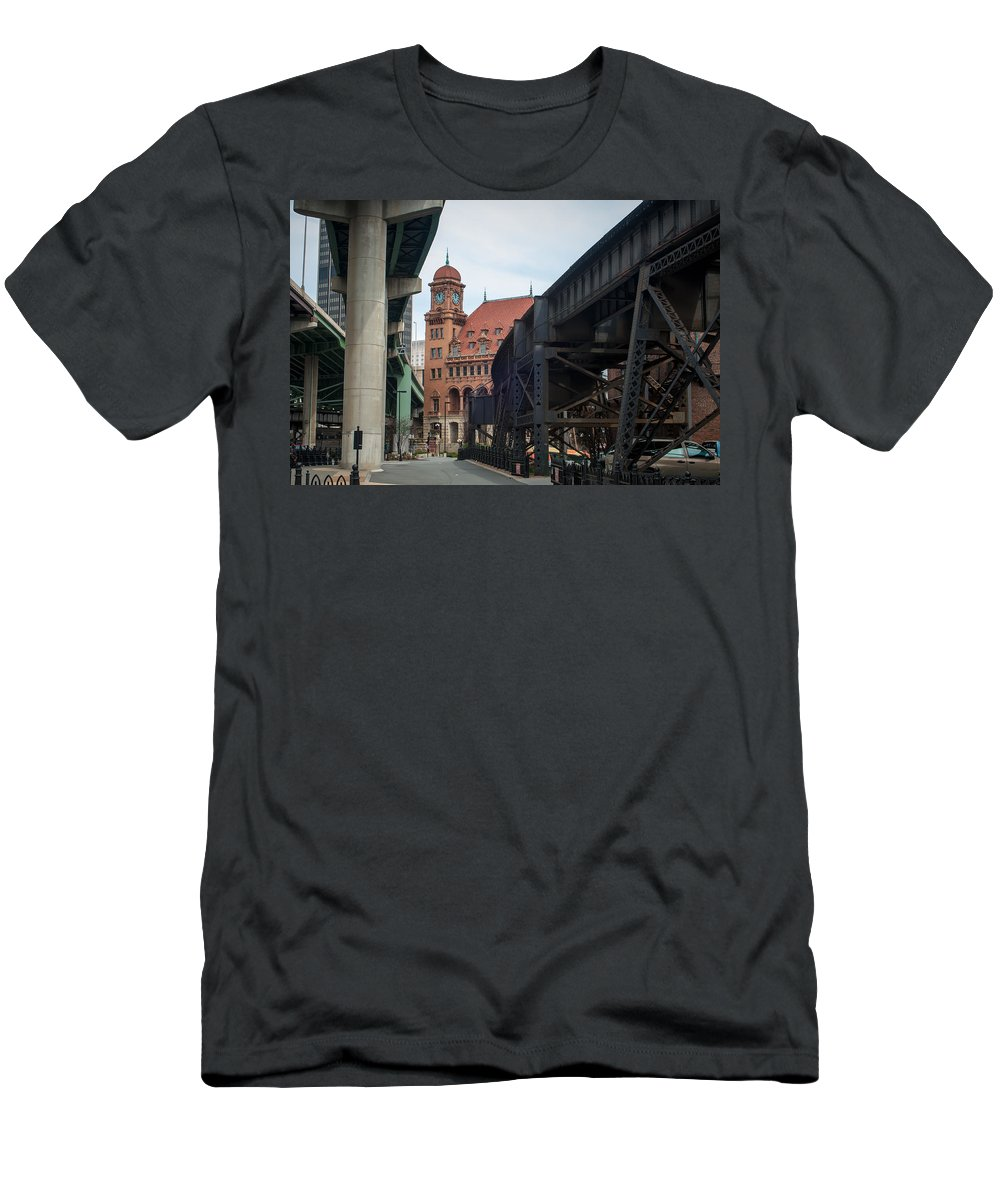 Crowded Men's T-Shirt (Athletic Fit) featuring the photograph Main Street Station - Richmond Va by Alex Grichenko